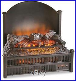 Electric Fireplace Logs Insert With Heater Realistic Flames Fan Remote Contro