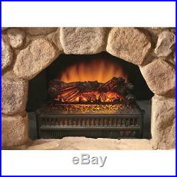 Electric Fireplace Logs Insert With Heater Realistic Flames Fan Remote Control