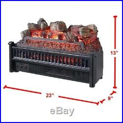 Electric Fireplace Logs Wood Decor Burning Insert Crackling Glowing Home Heater