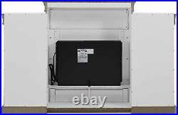 Electric Fireplace Mantle Bookcase White Display Shelves Vent Free Heater Insert