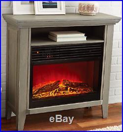 Electric Fireplace Media Stand TV Console Storage Shelf Infrared Quartz Insert