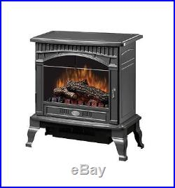 Electric Fireplace Stove Flame Log Inserts Fan Forced Heater Metal With Remote