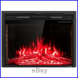 Electric Fireplace Stove Heater Insert Freestanding 36 Wall Mounted 2 Heat New
