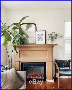 Electric Fireplace Stove Insert With Remote Control 3D Effects And Crackling Fir