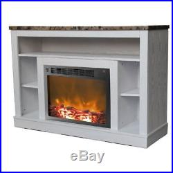 Electric Fireplace TV Stand Entertainment Media Center Storage Shelves Insert