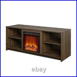 Electric Fireplace Tv Stand Heater Insert Warmer Media Shelf Console Center Rack