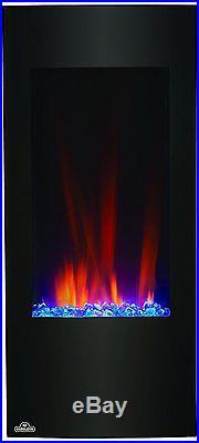 Electric Fireplace Wall Mount Vertical Insert 38 Inch Heater Portable Modern