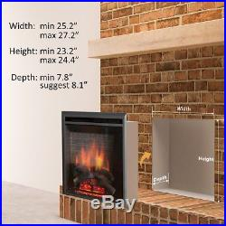Electric Fireplace Western Insert Puraflame Remote Control LED Heater Technology