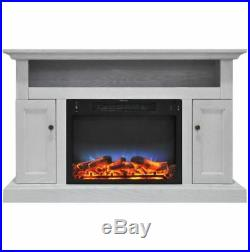 Electric Fireplace with Multi-Color LED Insert and 47 In. Stand