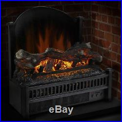Electric Heater Fireplace Log Comfort Insert Warmer Glowing Flame Insert Remote