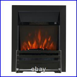 Electric Inset Fire Modern Fireplace Led Remote Control 2kw Coals Colour Choice