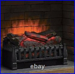 Electric Log Heater Infrared Set Fire Fireplace Realistic Ember Bed Insert New