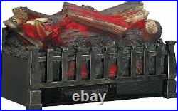 Electric Log Heater Infrared Set Fireplace Realistic Ember Bed Insert NEW