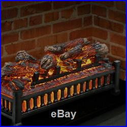 Electric Log Insert with Realistic Heater Flame Effect
