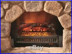 Electric Log Set Fireplace Insert With Heater Remote Control Realistic Flames