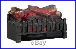 Electric Logs with Heater Fireplace Log Set Insert Decorative Ventless Wood Burn