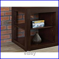 Electric Media Center TV Stand Fireplace Insert for TVs up to 65 Espresso Wood