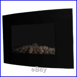Electric fireplace insert 35 750W 1500W wall mount with control tempered glass