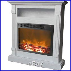 Electronic Fireplace Insert Full Surround Mantel Remote Control Indoor Flames