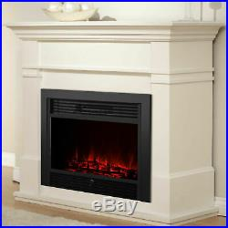 Embeddable Electric Wall Insert Fireplace Heater 28.5 Home Wood Stove + Remote