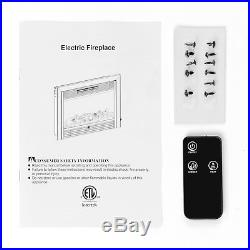 Embedded 28.5 Electric Insert Heater Fireplace Log Flame Remote View