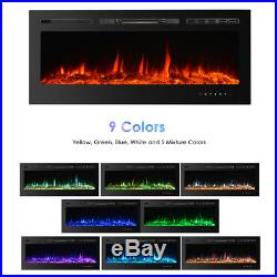 Embedded 28.7/50 Electric Fireplace Insert Heater Glass View with Remote G2K5