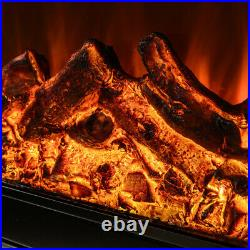 Embedded 31 Electric Fireplace Insert Heater Log Flame withRemote Control 1500