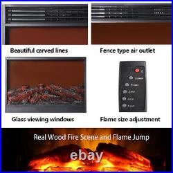 Embedded 31 Electric Fireplace Insert Heater Log Flame withRemote Control 150