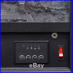 Embedded Fireplace Electric Insert Heater Glass View Log Flame Remote Home 28.5