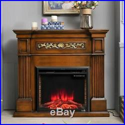 Embedded Fireplace Electric Insert Heater Log 30 750/1500W Flame Remote Control