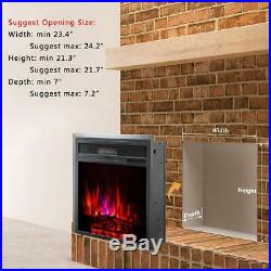 Embedded Fireplace Insert Recessed Electric Stove Heater Remote Control 23 Inch