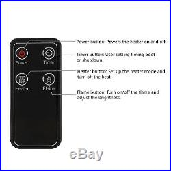 Embeded 1500W Fireplace Remote Control Light Stove Heater Insert Beautiful Heat