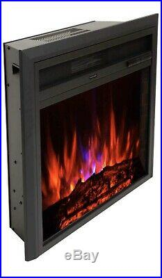 FLAME&SHADE Electric Fireplace Insert Freestanding or Recessed Embedded