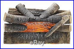 Fake Crackling Wood Log Fireplace Insert 20 Real Wood Glowing Logs Electric