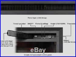 Fake Fireplace Electric Insert 33 Faux Ventless Heater LED Remote Thermostat