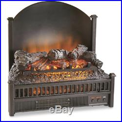 Fake Fireplace Insert Indoor Faux LED Electric With Remote Control Log Heater