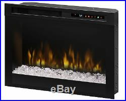 Firebox Landscape Front Mount Glass Media Electric Fireplace Insert DP1907