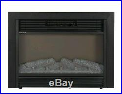 Fireplace Electric Embedded Insert Space Heater Glass Log Flame Remote Surround