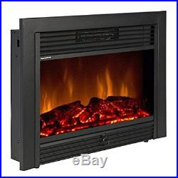 Fireplace Electric Insert Heater Glass View Log Flame Remote Home SKY1826