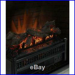Fireplace Electric Log Set, Heater, 23 in. Hearth Insert, Realistic Flame, Logs