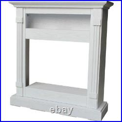 Fireplace Electronic Mantel Freestanding Insert White Remote Control 37 in