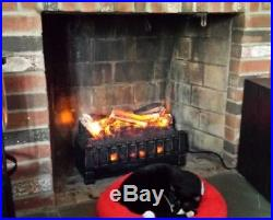 Fireplace Insert Electric Heater Log Ember Bed Set Quartz Infrared Remote 5200BT