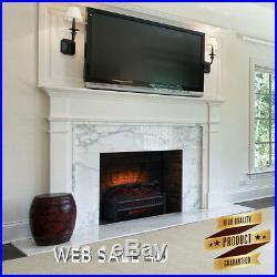 Fireplace Insert Heater Fan Realistic Flame Log Electric Glowing Ember Remote N