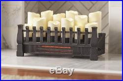 Fireplace Insert Infrared Heater Brindle Flame Candle Electric Stylish 20 Inches