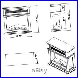 Fireplace TV Stand Console Solid Wood Construction Electric Heater Insert Mantel