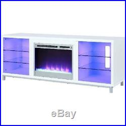 Fireplace TV Stand Electric Heater Insert Media Console Entertainment Storage