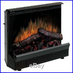 Flueless Electric Log Fireplace Heater Insert Stove w Handcrafted Fire Wood Logs