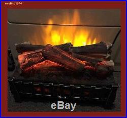 Freestanding Electric Log Set Insert, Fireplaces, Stoves, Heather, 4600 BTU, 1350W