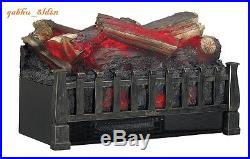 Freestanding Electric Log Set Insert, Fireplaces, Stoves, Heather, Flame, 4600 BTU