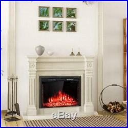 GoFlame 36'' 750W-1500W Fireplace Heater Electric Embedded Insert Timer Flame Re